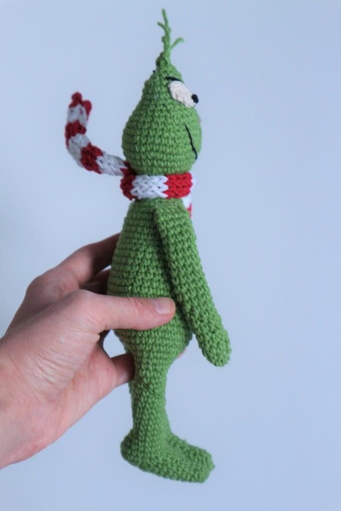 гринч вязанная игрушка