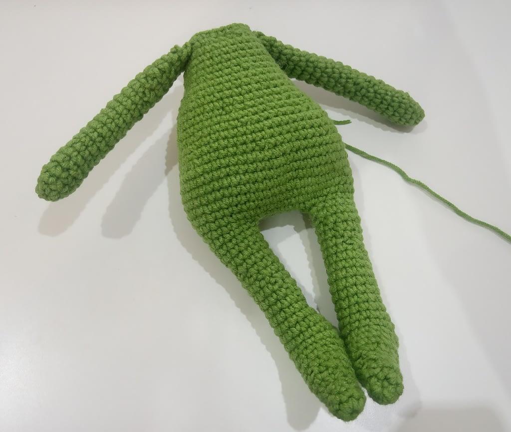 тело вязанной игрушки Гринч