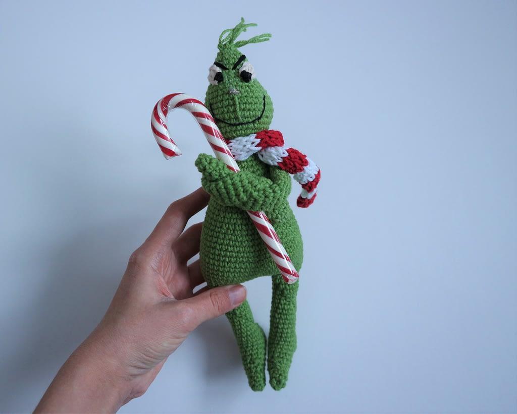 гринч вязанная игрушка амигуруми