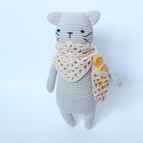 кошка с авоськой крючком